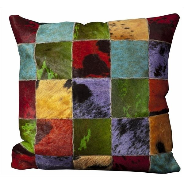 Mina Victory Natural Leather and Hide 20x20-inch Throw Pillow