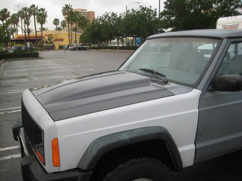 Cowl Hood Xj Jeep Xj Jeep Mods Jeep