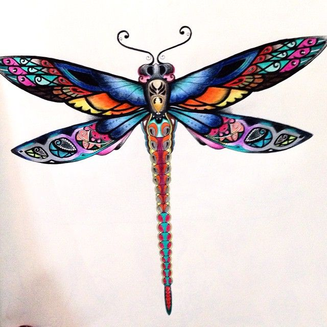 Johanna Basford - Enchanted Forest - dragonfly                                                                                                                                                                                 More
