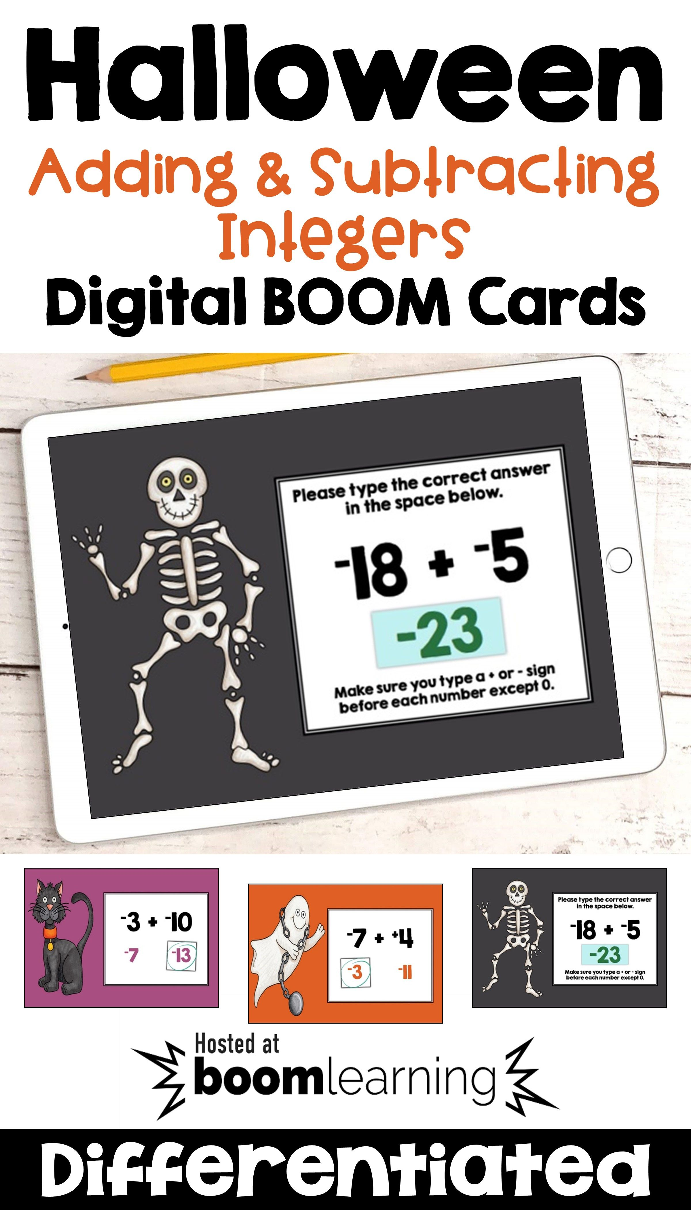 Halloween Math Boom Cards For Adding Amp Subtracting