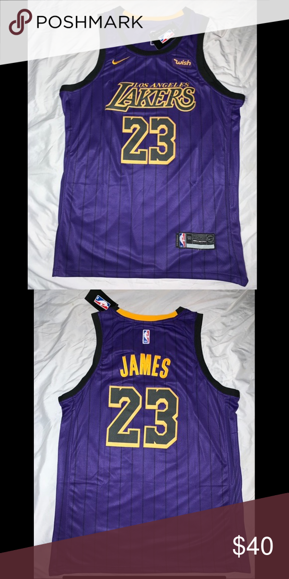 reputable site 4c2a4 d6c4b Lebron James Lakers Jersey 23 Lakers Statement Jersey Purple ...