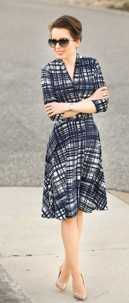 Painted Plaid Karina Dresses Midi Dress Redreticule Over 30 Style And Fashion Blog