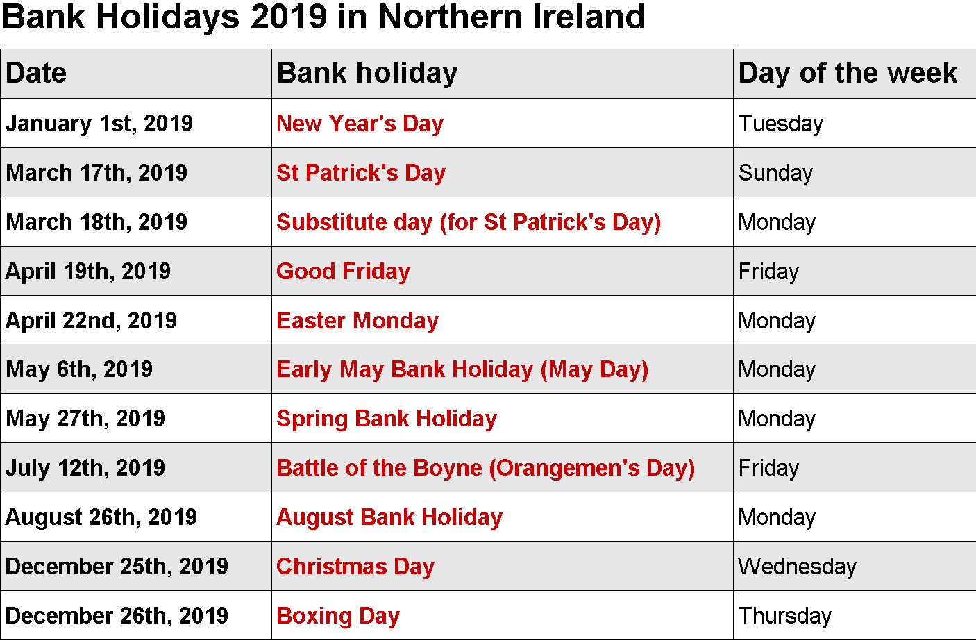 February 2019 Calendar With Bank Holidays Holiday Day 2019 Calendar Holiday