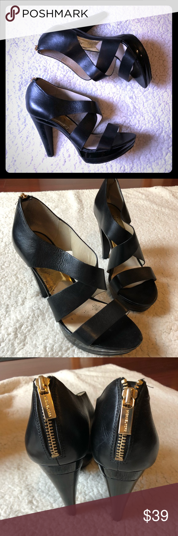 da839515685 Spotted while shopping on Poshmark  Michael Kors heels!  poshmark  fashion   shopping  style  Michael Kors  Shoes