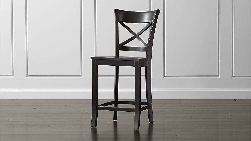 Vintner Black Counter Stool Crate And Barrel Very Traditional