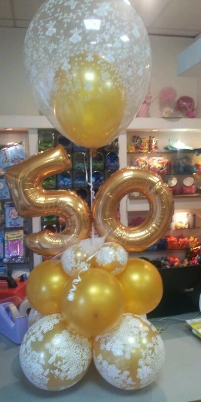 Centrotavola Per Nozze D Oro Palloncini Decorazioni Per Compleanno Centrotavola Con Palloncino