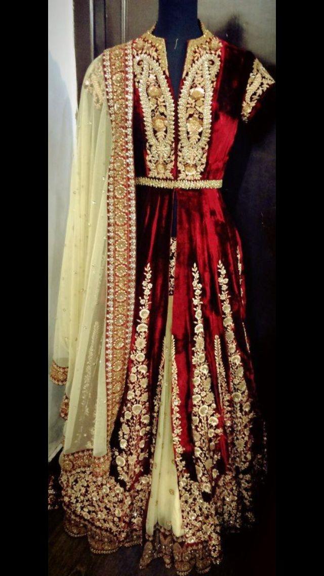 Velvet Sabysachi!  In love!   Guddu Randhawa onto Indian Fashion *sigh*