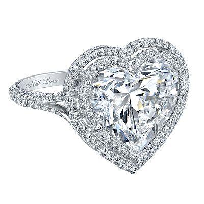 Celebrity Inspired Rings Heart Shaped Diamond Ring Neil