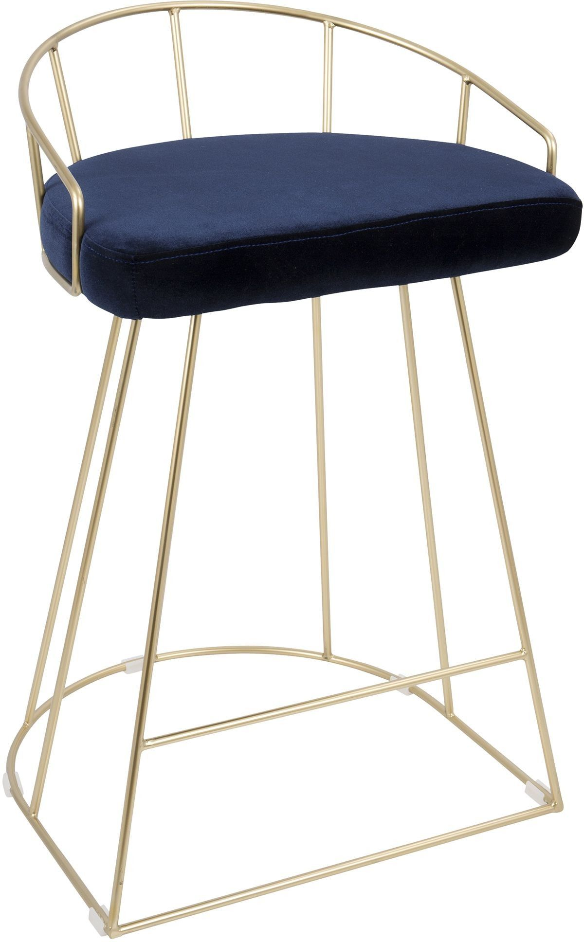 Pair Bed Stools: Canary Gold And Blue Counter Stool Set Of 2