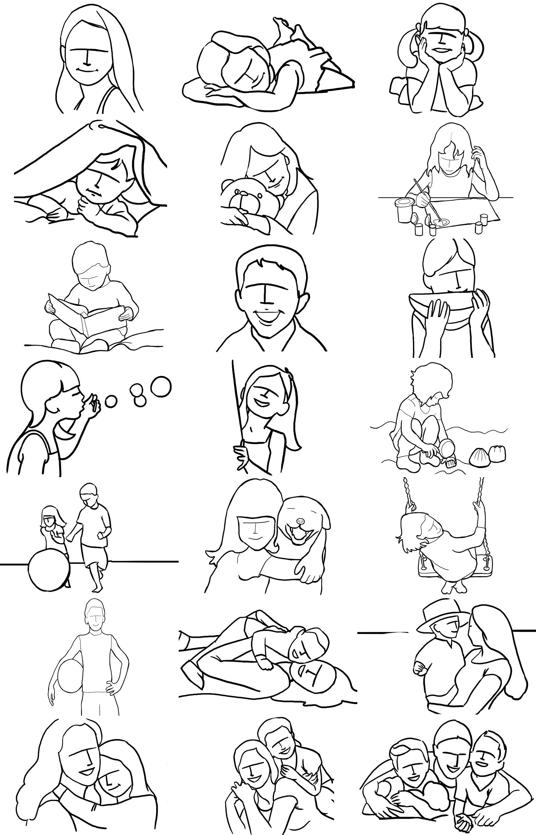 posing guide 21 sample poses to get you started with photographing rh pinterest com posing guide children's portrait photography Model Poses