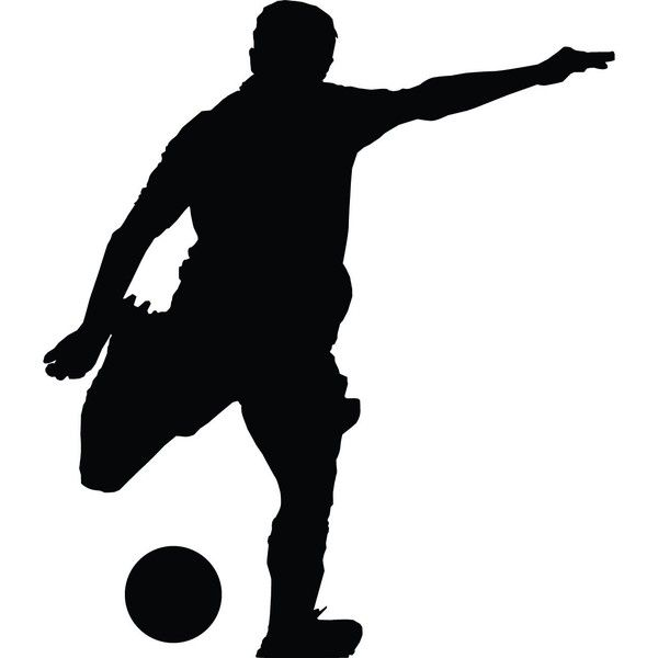 Soccer Wall Decal Sticker Sports Silhouette Decoration Mural 12 In 5 33 Liked On Polyvore Featuring Home H Sports Wall Decals Silhouette Sports Wall Art