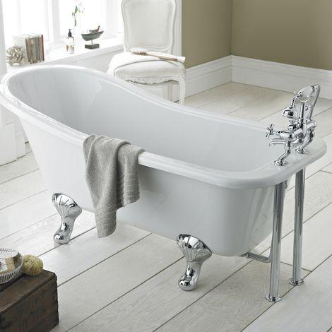 Premier Kensington 1500mm Freestanding Roll Top Bath Rl1490t Slipper Bath Free Standing Bath Roll Top Bath