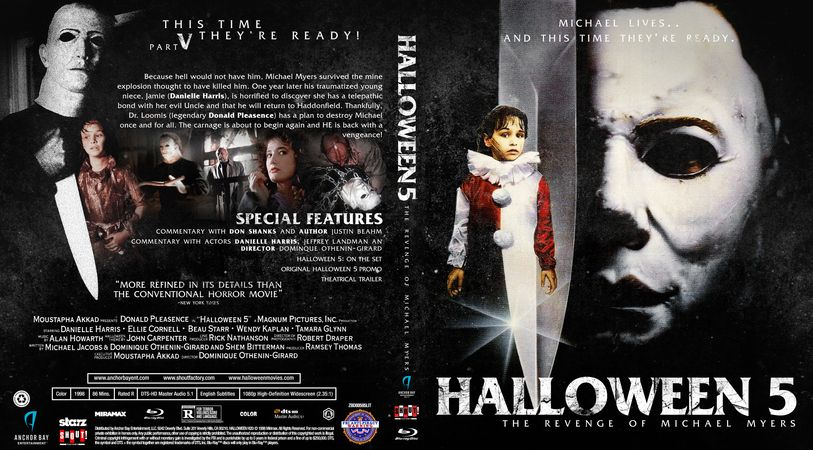Halloween 5 Blu Ray.Halloween 5 The Revenge Of Michael Myers Blu Ray Custom Cover