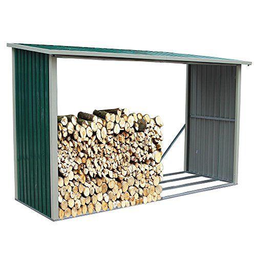Legnaia in lamiera 242x89xh190cm stoccaggio legno giardino