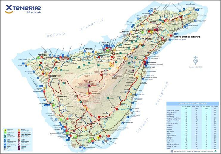 Tenerife Tourist Map Tourist Map Tenerife Map