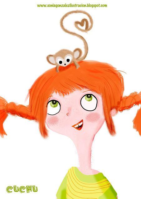 Sònia González Ilustración: Pippi y el Sr Wilson