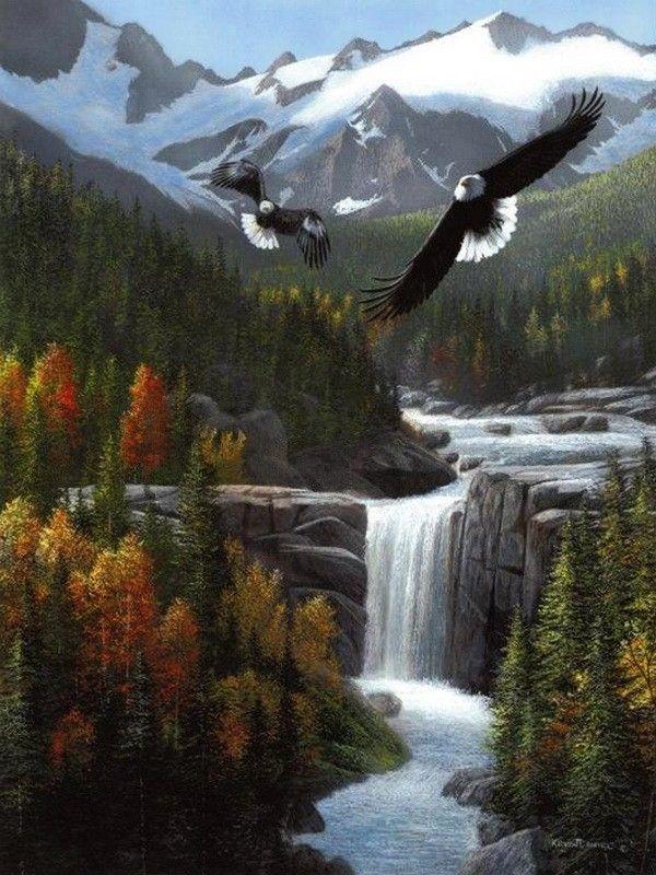 Kevin Daniel Waterfall Eagles Mountains River