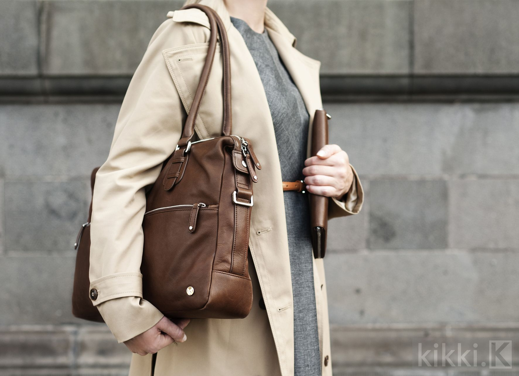 Leather Shoulder Bag Norrmalm & Leather A5 Compendium