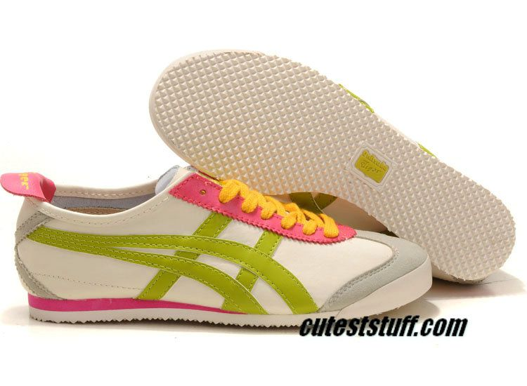 57451a5a50c2 Asics Onitsuka Tiger Kanuchi Mens Beige Neon Pink Yellow THL202 1209  59.99