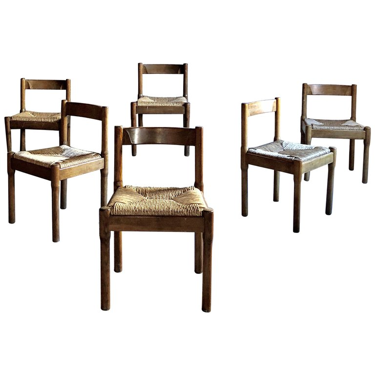 Vico Magistretti Midcentury Carimate Dining Chair For Cassina