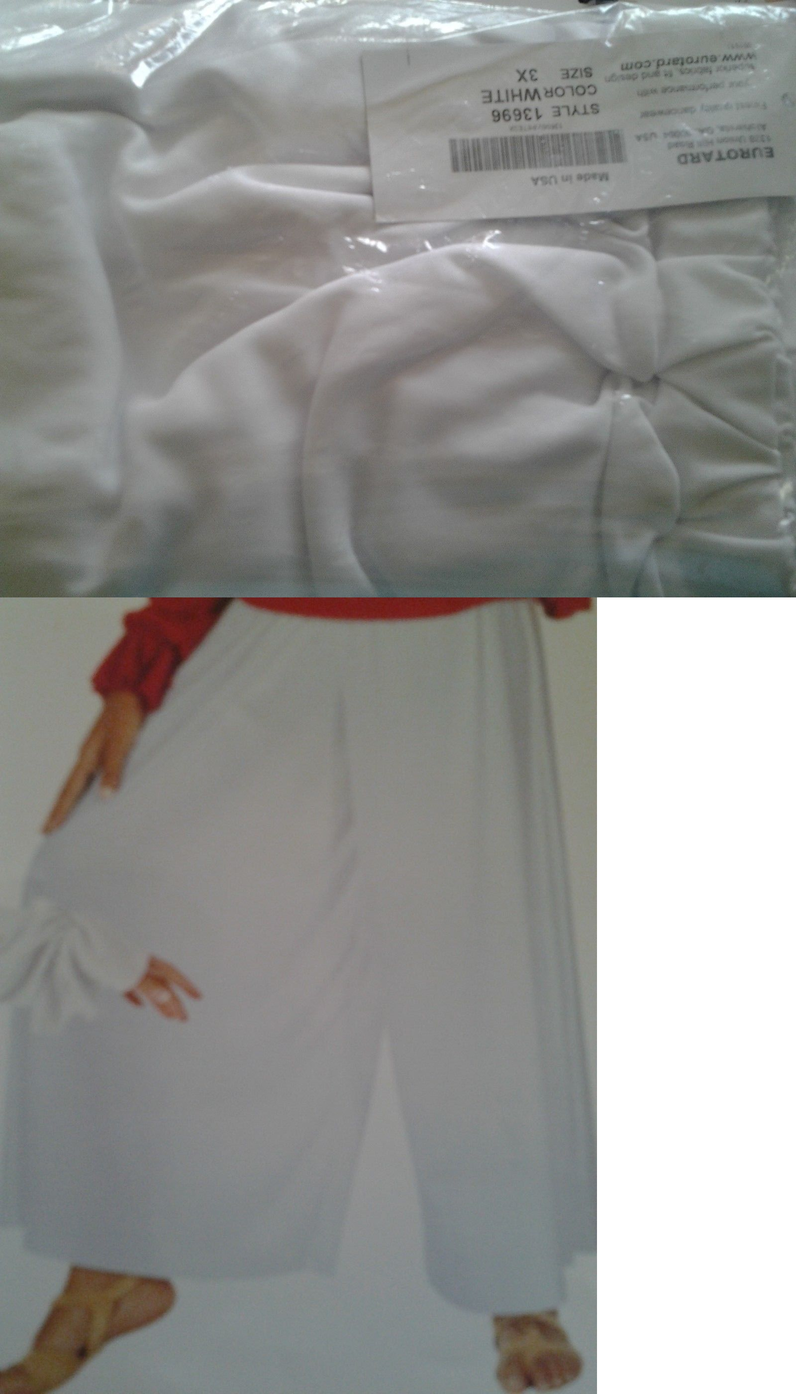 b16dc6eca4 Pants and Shorts 163140  Eurotard 13696 Size 3X White Palazzo Pants -  BUY  IT NOW ONLY   21.5 on  eBay  pants  shorts  eurotard  white  palazzo
