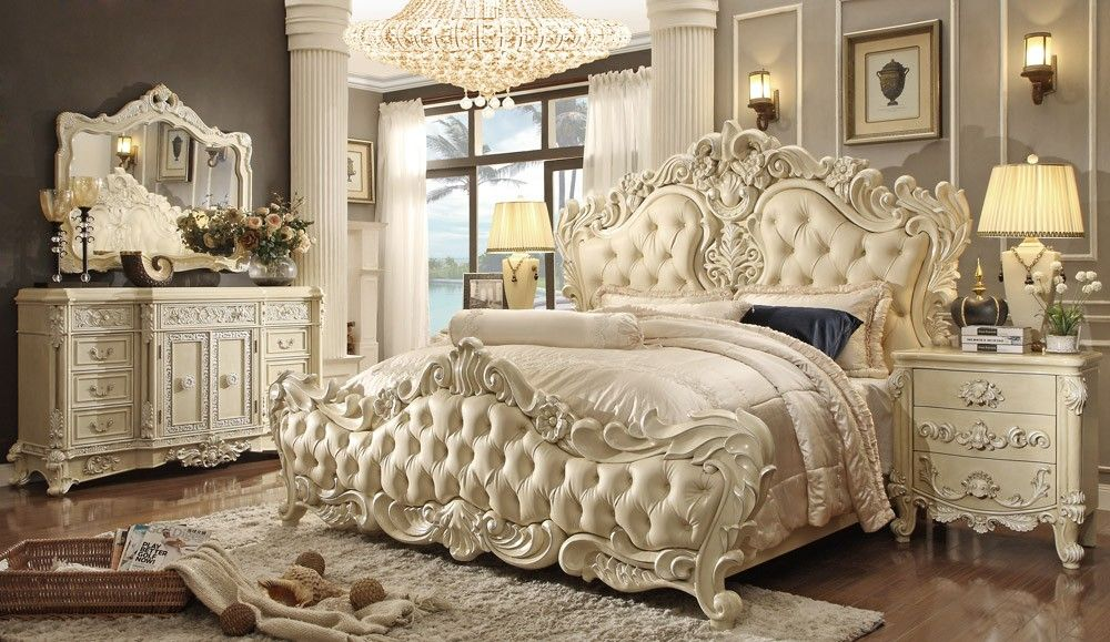 Eskada Victorian Style Bed Collection   Bedroom Furniture   Furniture  Stores Los Angeles