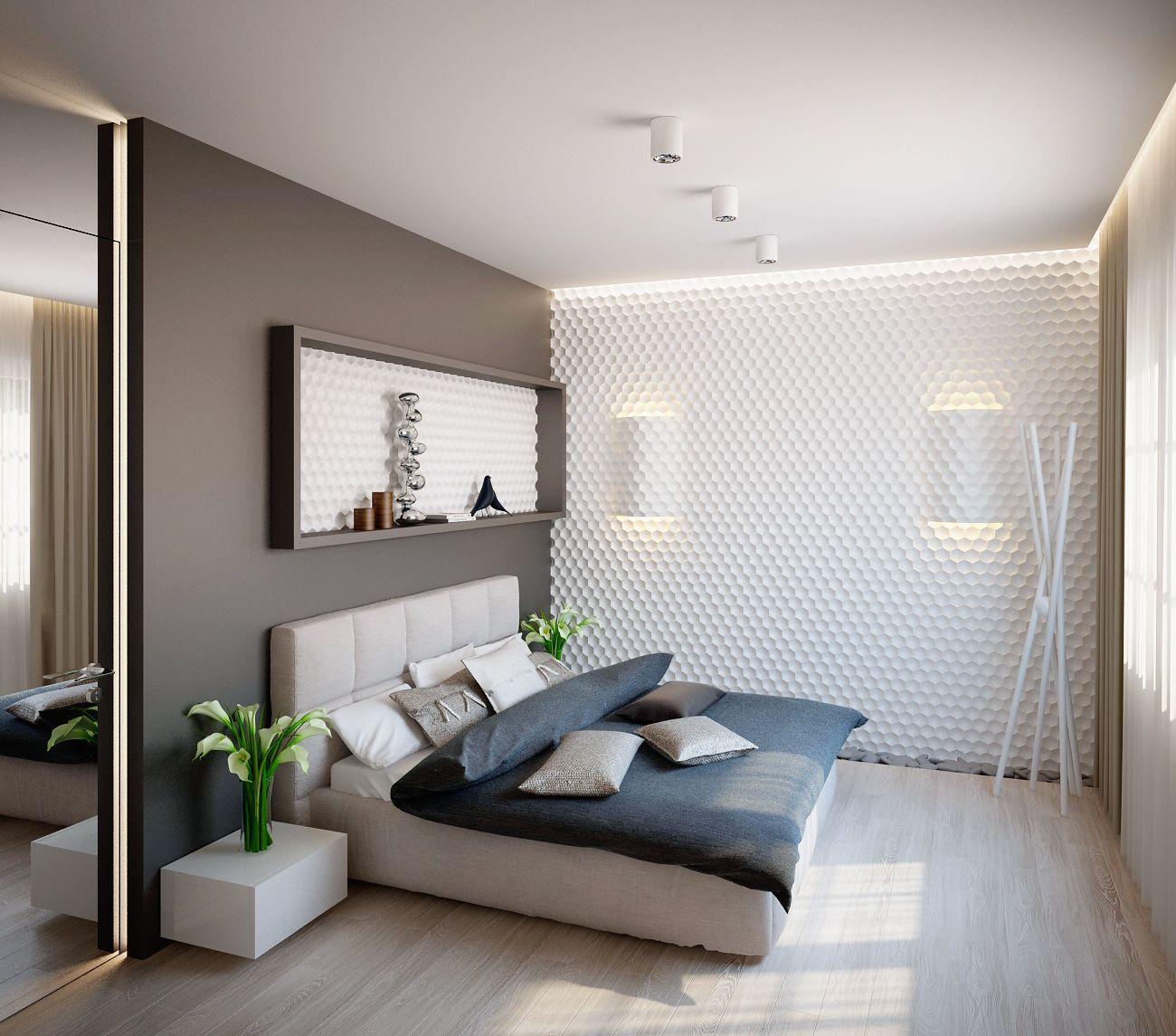 современные спальни дизайн: Интерьеры загородного дома на Калужском ш, Архитектурное