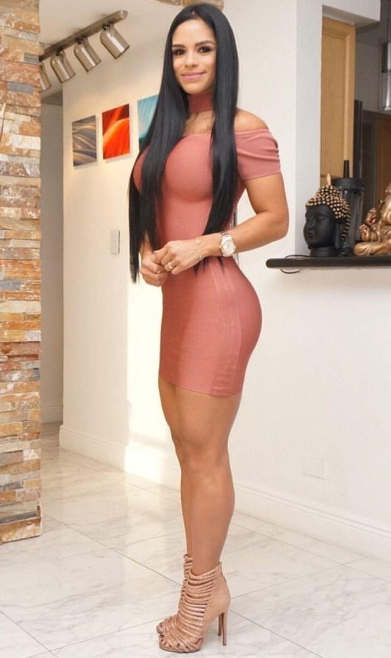 f69972ee33fa High heels fashion — I ❤ her tight mini dress and high heels, she has.