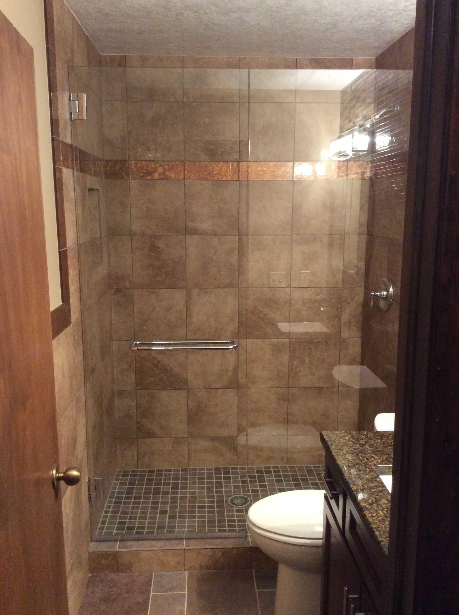 Custom Bathroom Remodel With Tiled Shower And Copper Trim And 3 8