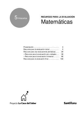 Ref Amp 5 Mate Primaria Matematicas Ejercicios Matematicas Primaria Exámen De Matemáticas