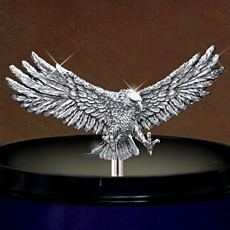 Patriotic American Eagle Chopper 15-Inch Tall Table Lamp: Freedom Rider - detail 1