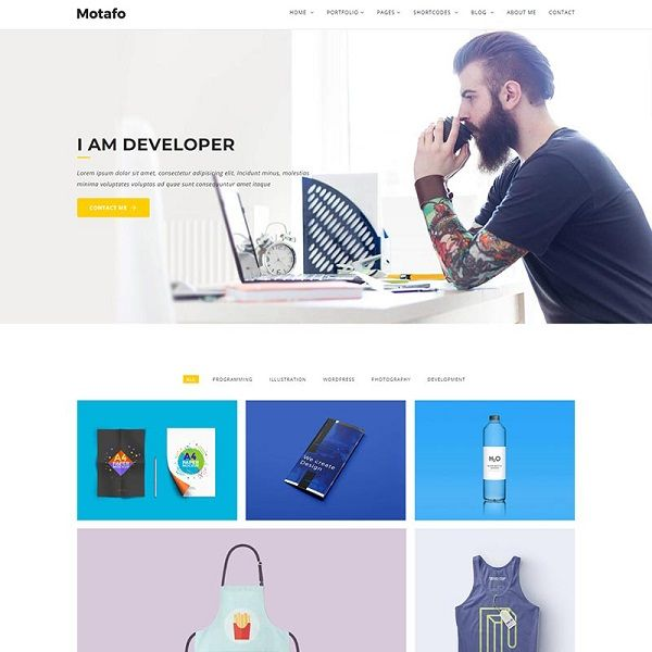 Conquer the Banality Using These 20 Personal Website Templates! 16