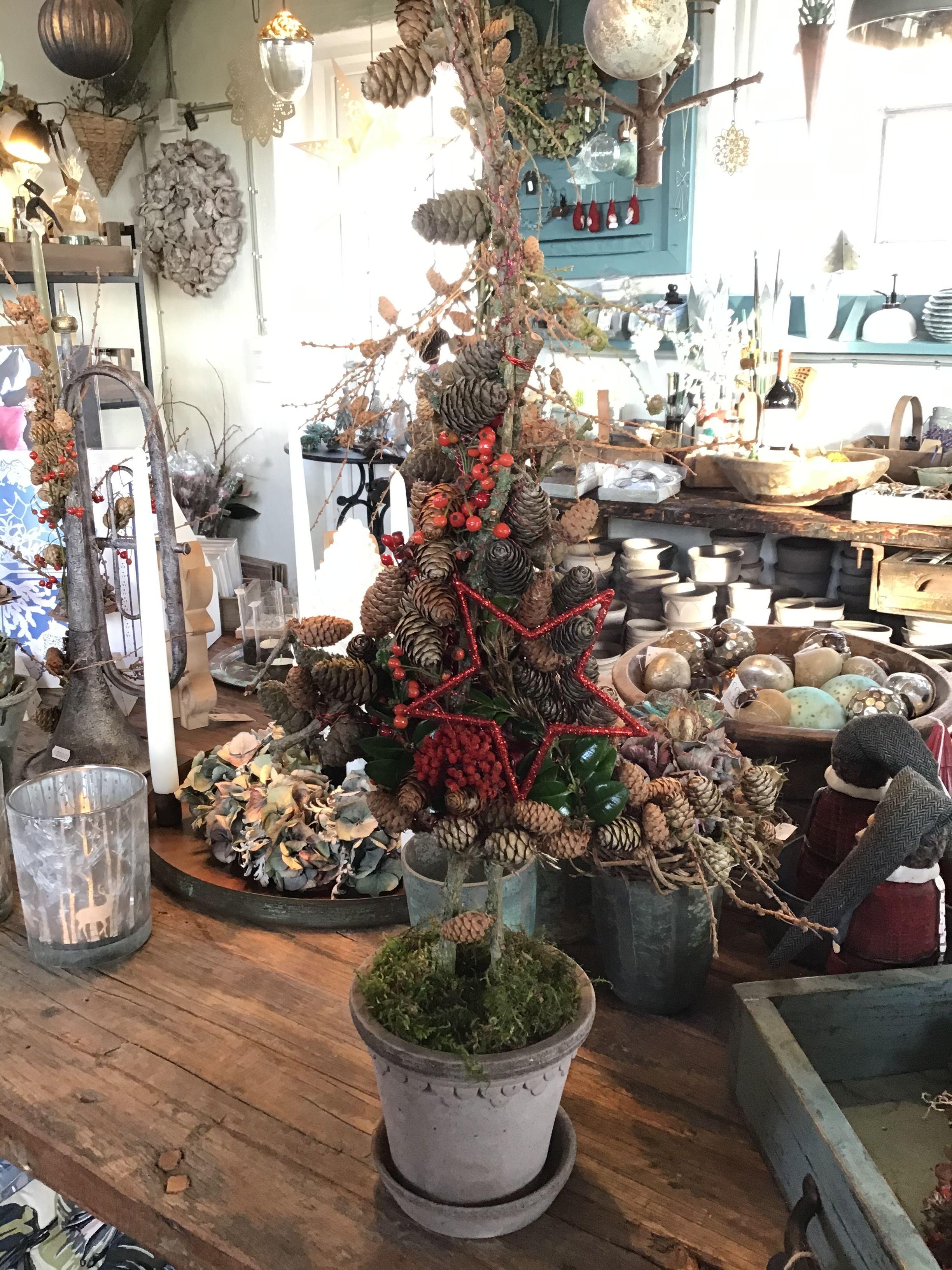 Juletræ med lærkegrene Butik Landliv