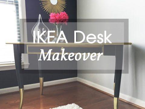 Diy Ikea Hack Leksvik Desk Furniture Makeover Youtube Leksvik Furniture Makeover Ikea Leksvik