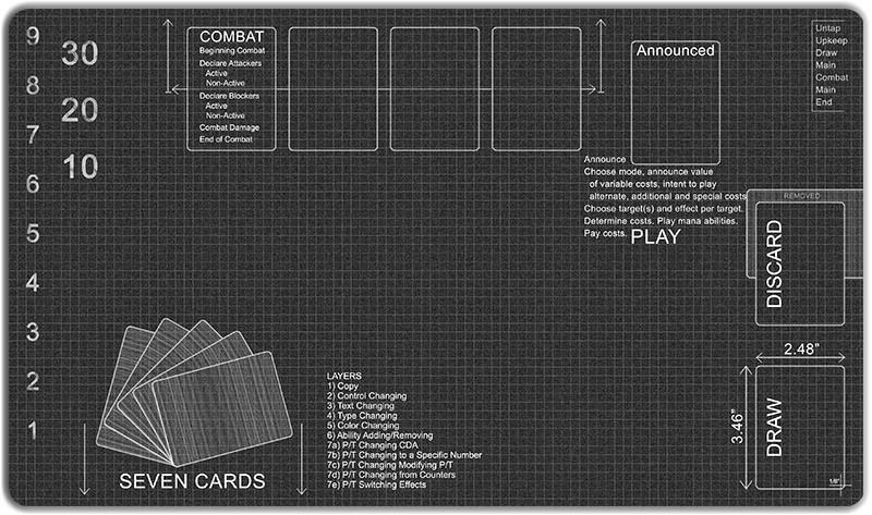 Blueprint Playmat Playmat Blueprints Cards