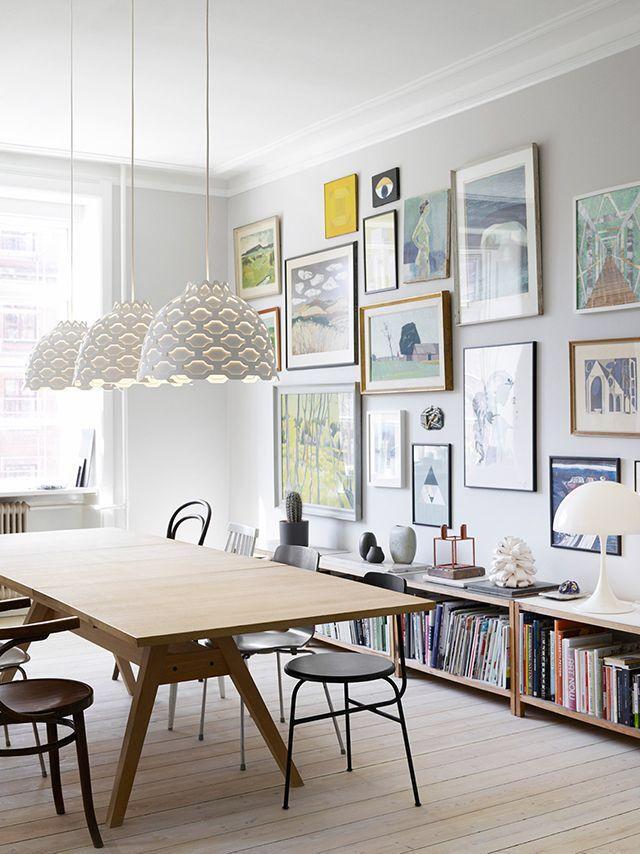 Dining Room Collage Wall Scandinavian Dining Room Dining Room Walls House Interior