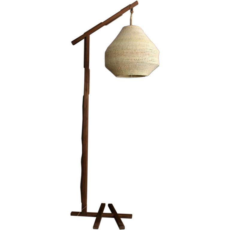 Walnut floor lamp aloadofball Images