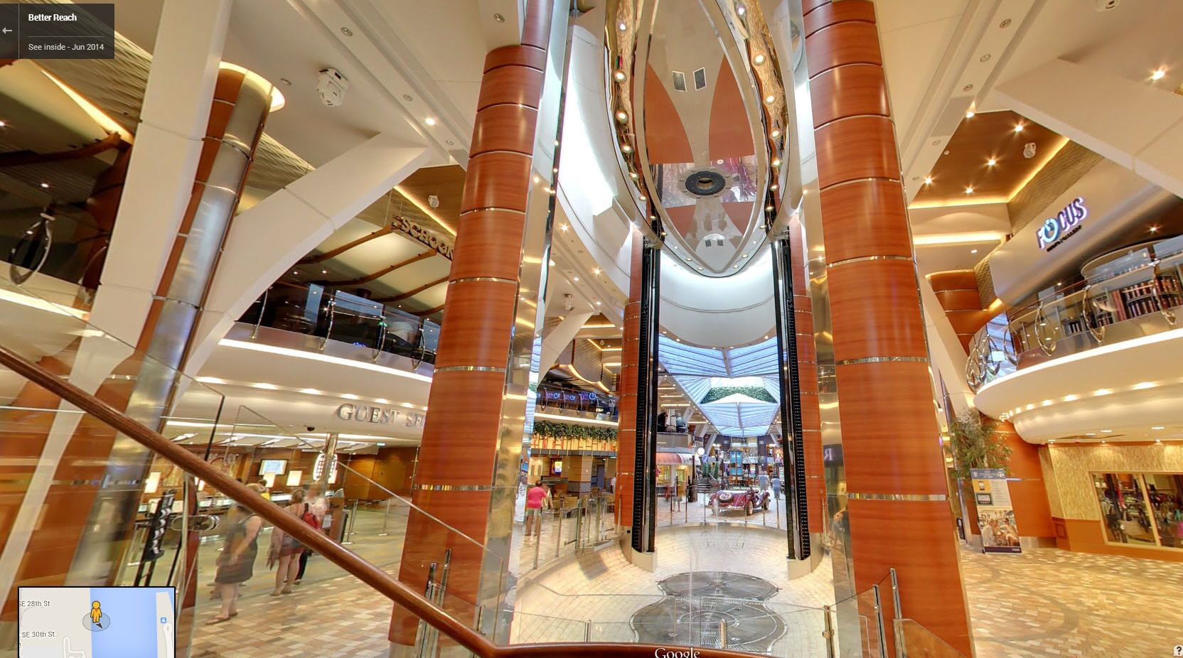 Is This A Shopping Mall No Its Actually Inside A Cruise Ship - Inside of cruise ships pictures
