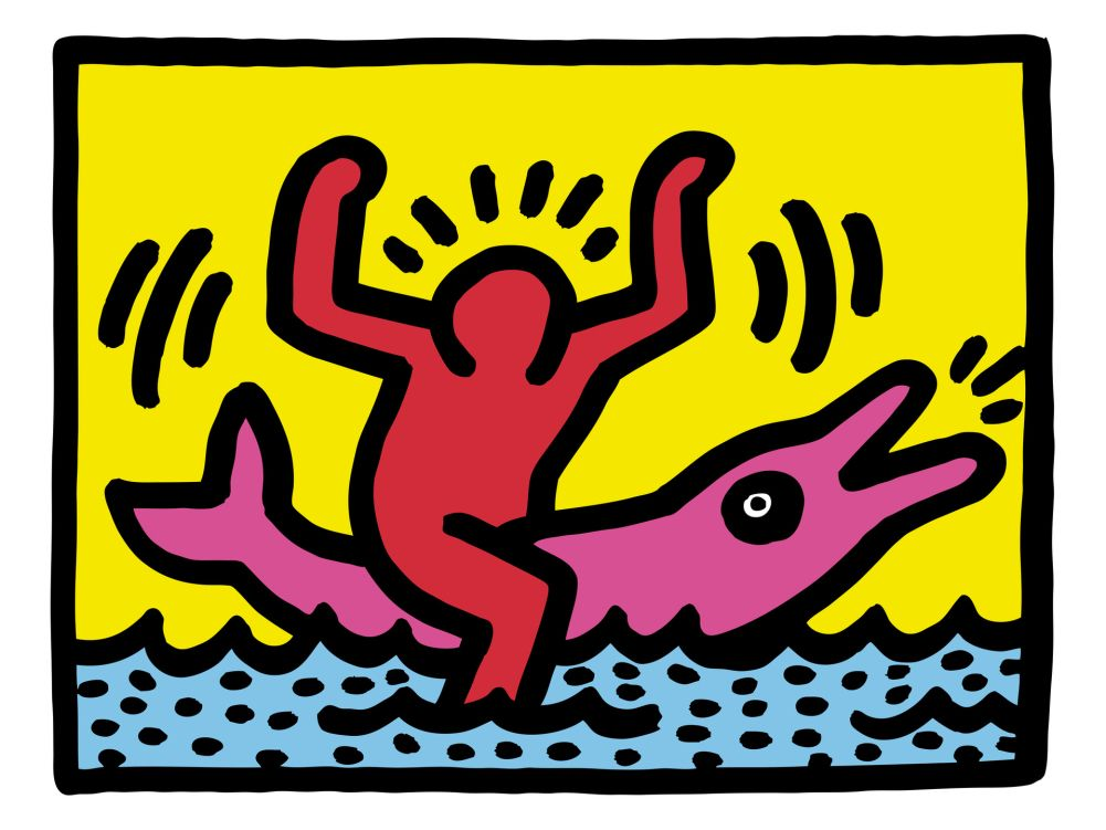 Top Pop Shop (Dolphin Rider) | Keith haring and Artist FS13