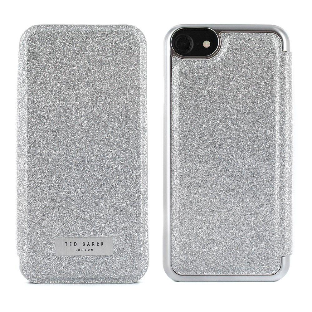 4b36e727b Ted Baker GLITSIE Mirror Folio Case for iPhone 8   7 - Silver ...