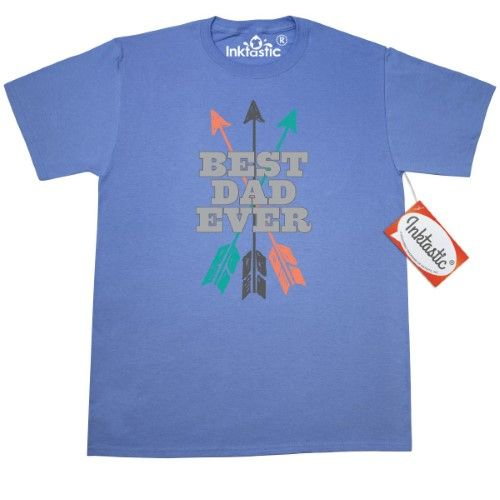 Inktastic Best Dad Ever Hipster Arrows T-Shirt Daddy Worlds Fathers Day Mens Gift For Adult Clothing Apparel Tees T-shirts Hws, Size: Large, Blue