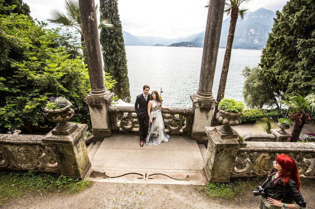 From Canada to Como Lake  Photo Daniela Tanzi #abitiDaSposa##Bride #WeddingDress