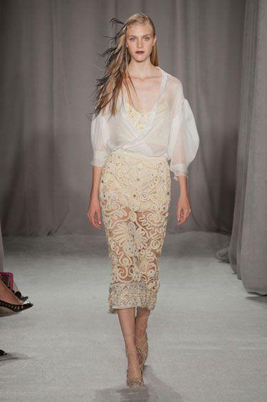New York Fashion Week Marchesa Spring 2014 - Best New York 2014 Runway Fashion - Harper's BAZAAR