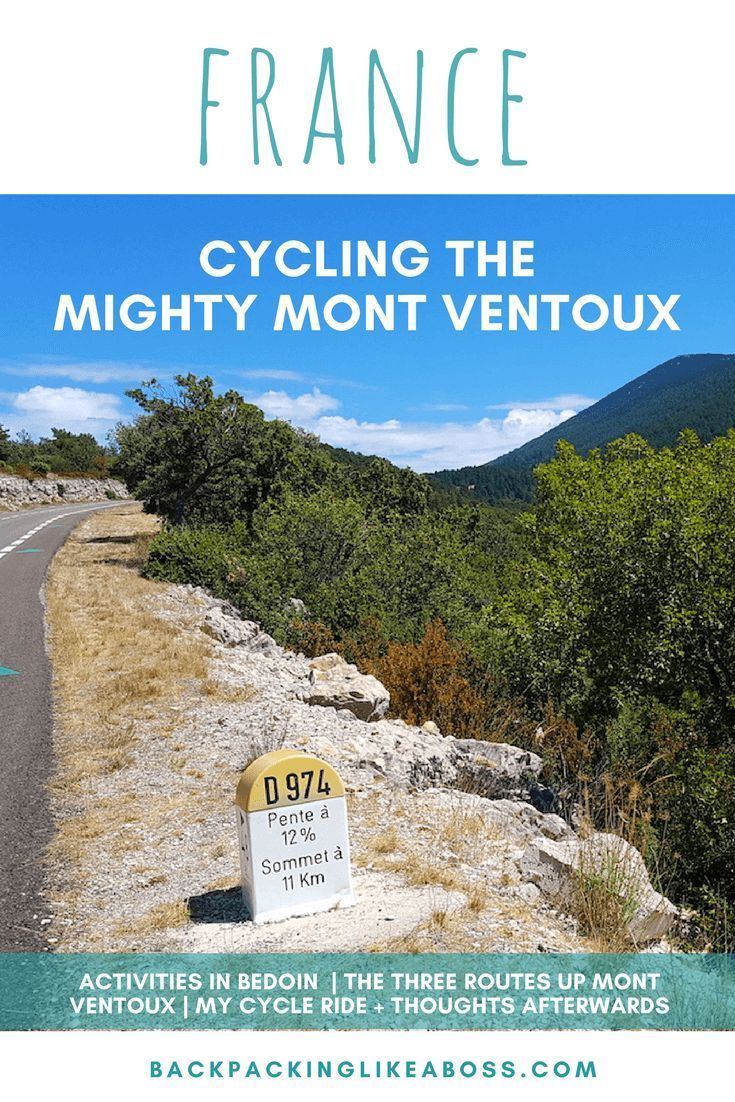 Cycling trips in France. Read about my experience cycling Mont Ventoux as a beginner cyclist – The C...
