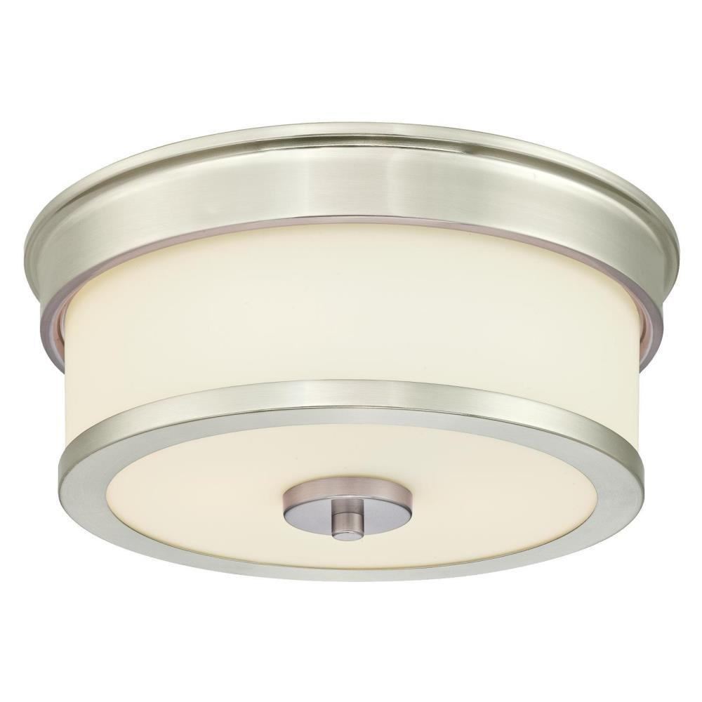 Westinghouse Roswell 2 Light Brushed Nickel Flush Mount 6327400 Ceiling Fixtures Frosted Glass Flush Mount Ceiling