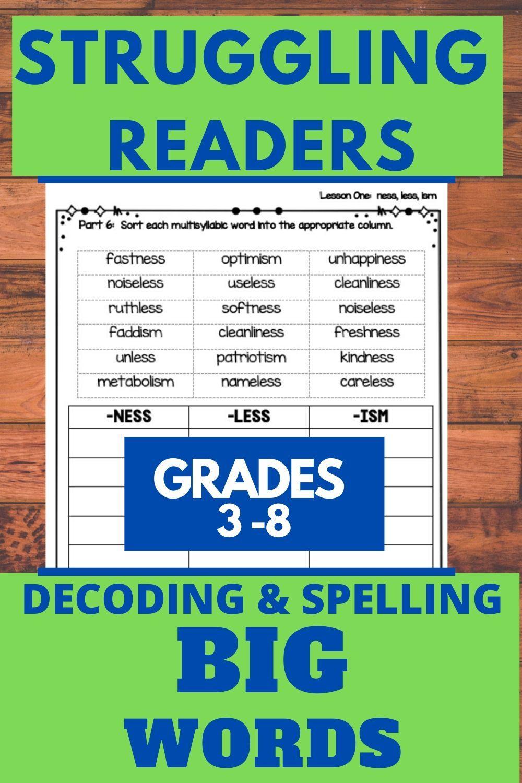 Decoding Multisyllabic Words-Effective Reading Intervention for Upper  Elementary Students   Multisyllabic words [ 1500 x 1000 Pixel ]