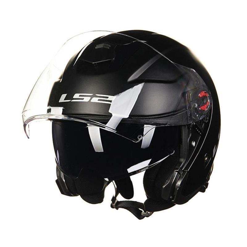 Ls2 Infinity Of521 3 4 Open Face Motorcycle Helmets With Double Visor Helmzone Com Open Face Motorcycle Helmets Motorcycle Helmets Helmet