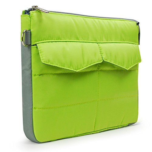 "Lavievert 11-11.6 Inch Macbook Bag Laptop Sleeve Carrying Netbook Protector Case Cover with Front and Back Pockets for Most Popular 11"" Notebook Computer Chromebook Laptop Ultrabook Tablet - Green Lavievert http://www.amazon.com/dp/B00Y838YE4/ref=cm_sw_r_pi_dp_uDQEvb1G5GG4W"