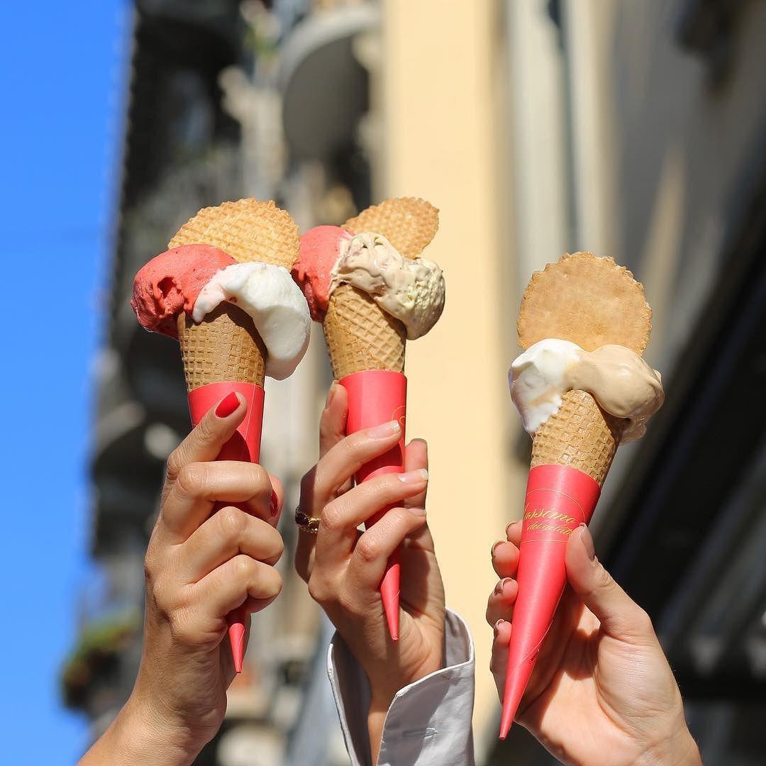 Yummy!!! Dica insider: Massimo del Gelato eleito o melhor sorvete da cidade!  #fhitsmilão @fhits