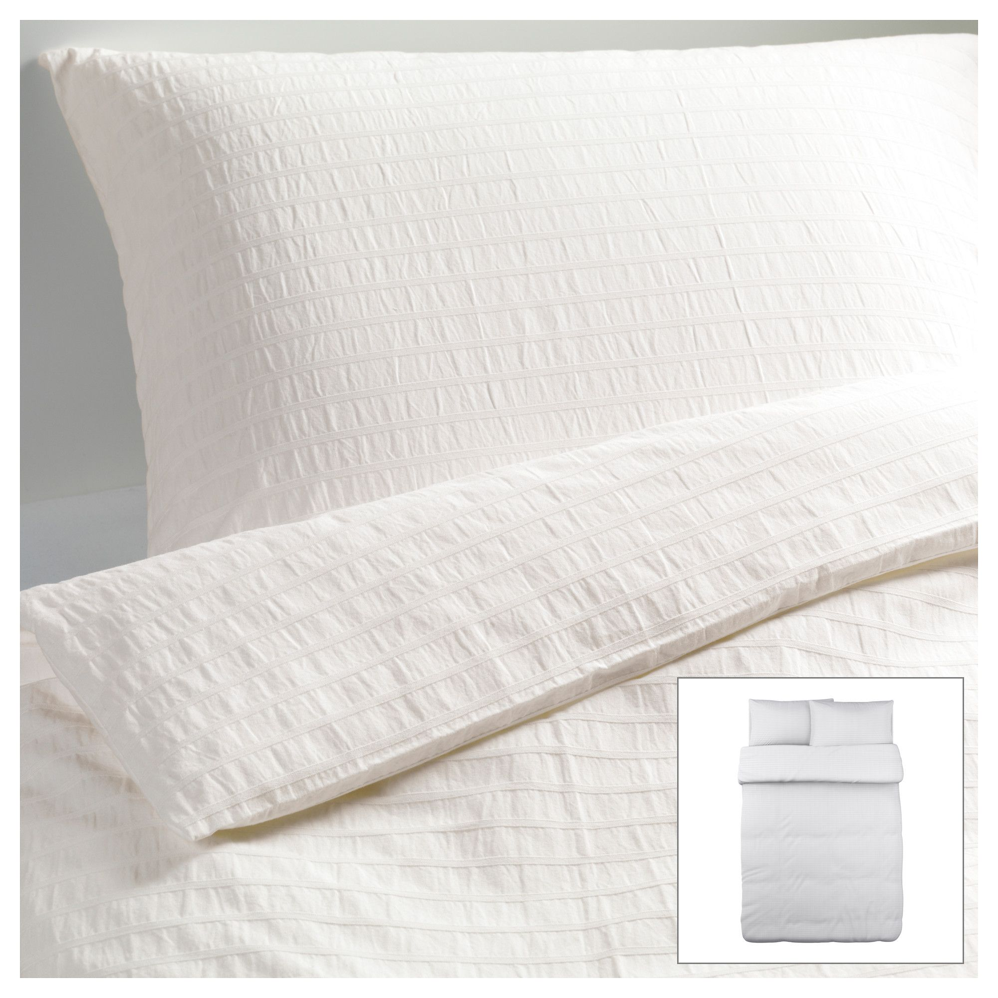 OFELIA VASS Duvet cover and pillowcase(s) white Full